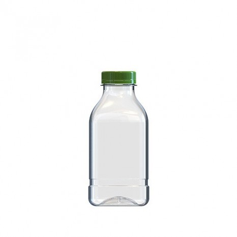Botella 1/2 Litro PET Cuadrada (Caja 96 unds.)
