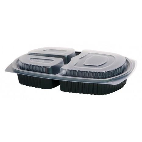 Bandeja Menu Lunch Box 3 Compartimentos 1000ml. 200 Unid.