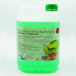 Limpiador Higienizante Manzana. Garrafa 5 Ltr. (Pack 4 Unid.)