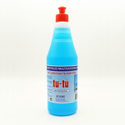 LIMPIA CRISTALES AZUL TU-TU Botella 750 Ml. (Pack 4 Unid.)