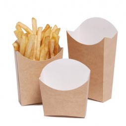 Caja Cartón Kraft Pequeña para Patatas Fritas (Pack 850 Unid.)
