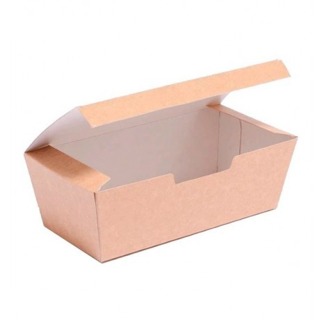 Caja Comida para Llevar Kraft 16,5x7,5x6cm (Pack 450 Unid.)