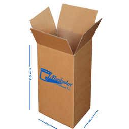 Caja cartón de doble canal 50x45x80 cm Pack 5 Unds