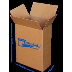 """Caja cartón """"Pequeña"""" de doble canal 13x19x34,5 cm Pack 10 Unds"""
