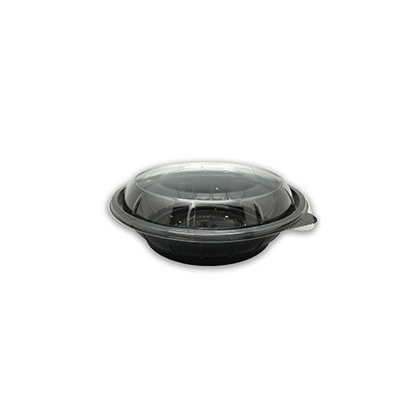 Tapa Bowl PET Base negra 800ml (Caja 300 unid.)