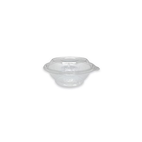 Tapa Ensaladera Bowl PET Base transparente 600ml (Caja 600 unid.)