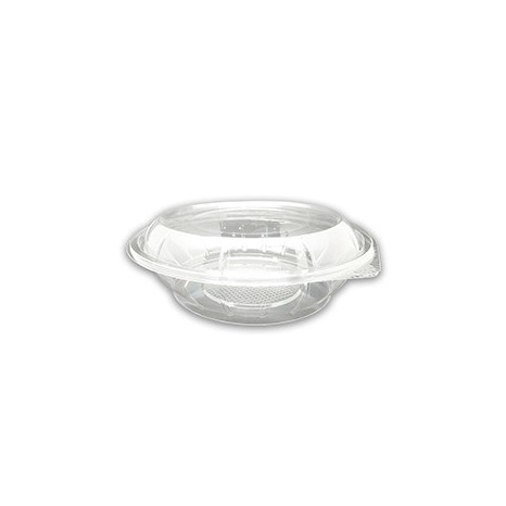Tapa Ensaladera Bowl PET Base transparente 1000ml (Caja 450 unid.)