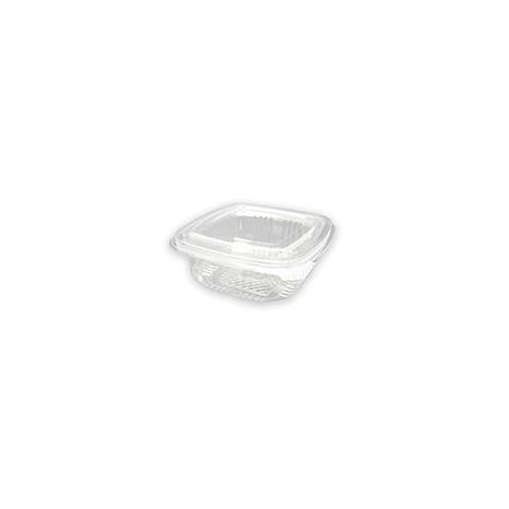 Tarrina Bisagra Rectangular PET 250ml (Caja 600 unid.)