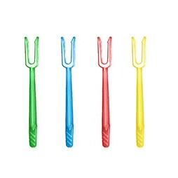 Pinchos PS de colores 80 mm. (Caja 12000 unid.)