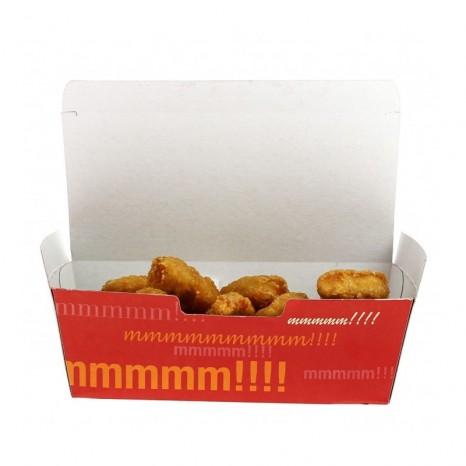 Caja Cartón Grande para Fritos, Patatas, Nuggets... (Pack 450 unid.)